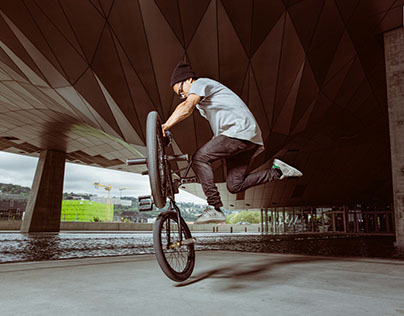 Kevin Jacob - BMX flat photo shoot