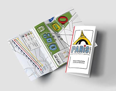 Paris Paralympics 2024 Map, Icon, and Brochure Design