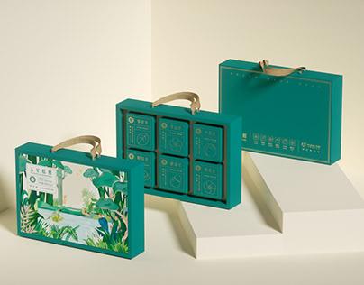 Green bean cake packaging design