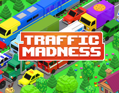 Traffic Madness: Fury Road - voxel racing arcade