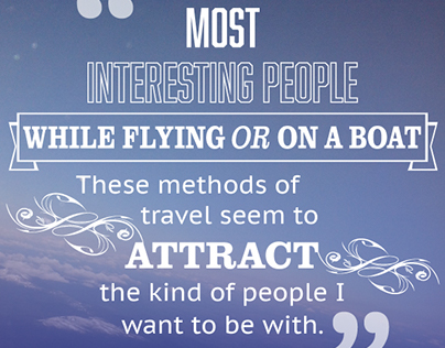 Most interesting people - travel quote