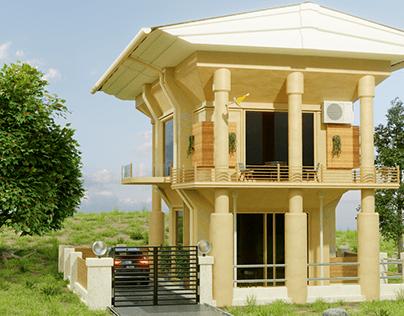 Concept architecture 3D render