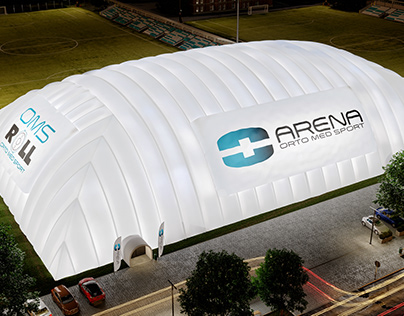 Air dome football field, visualizations