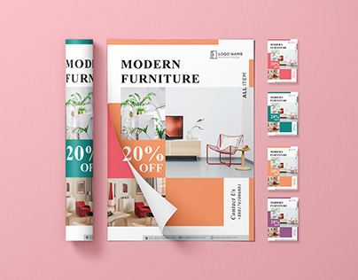 Promo Minimalist Furniture Flyer PSD Template