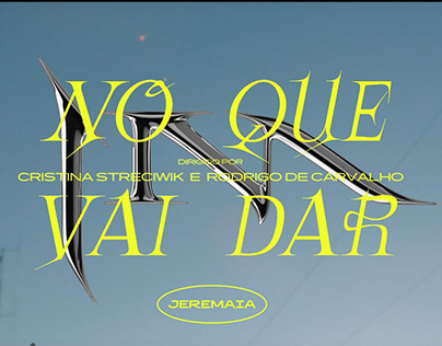 "Títulos e Objetos 3D disco ""No que vai dar"" de Jeremaia"