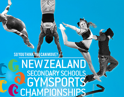 NZ Secondary Schools Gymsports Champs Poster