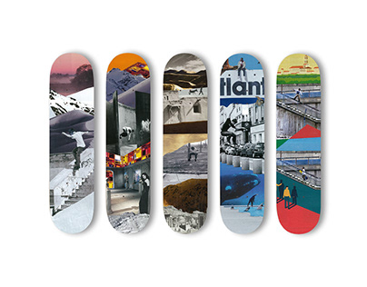 Skateboard collages