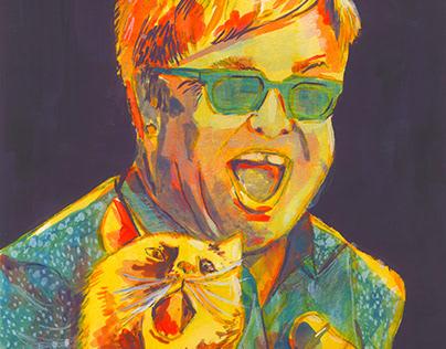 Celebrity and their Pet - Elton John