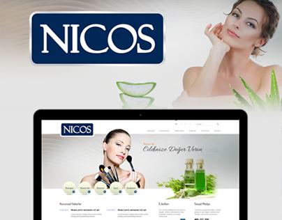 Nicos Cosmetics - Web Arayüz Tasarımı