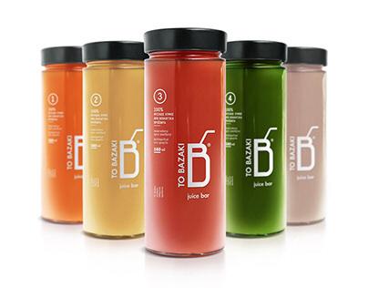 """ TO BAZAKI"" Juice Bar – Design Identity"