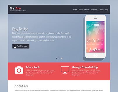 Free App WordPress Theme