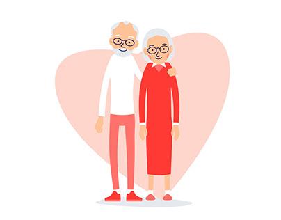 Elderly People | Flat Illustration