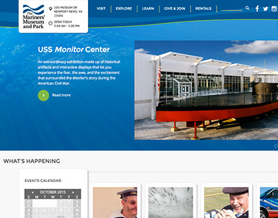 The Mariners' Museum and Park 2015 Homepage Redesign