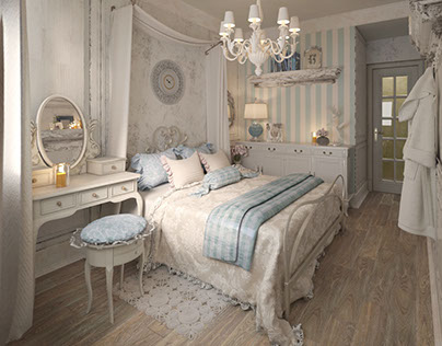 Shabby chic bedrooms for mom and daughter