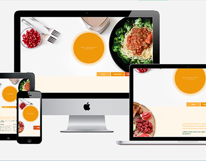 Demo Restaurant Landing Page Website