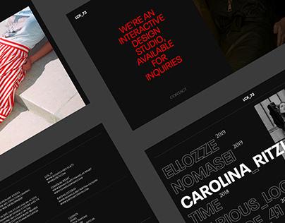 LCK_73 digital studio - Website