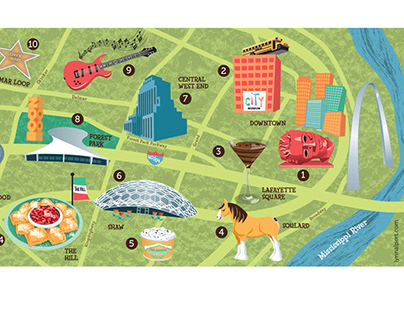Illustrated Map of St. Louis