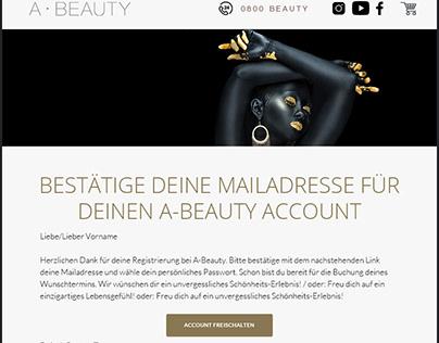 Newsletter Design for A-Beauty