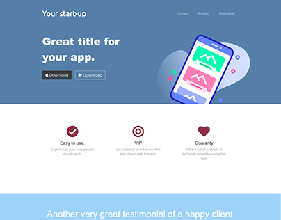 Bootstrap landing page for start-up