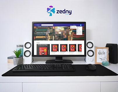 UI UX Design | Zedny books Website