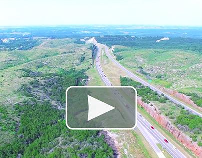 Aerial Drone View of i35-Oklahoma