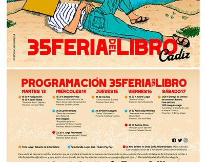 Diseño para programación de la 35 Feria del Libro