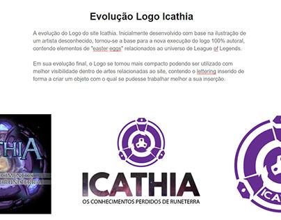 Evolução logo Icathia