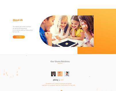 web Event Tracker Homepage UI