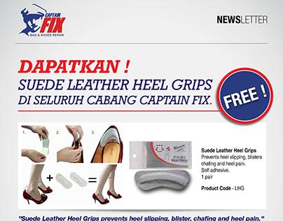 Newsletter designs for Captain Fix