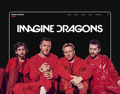 Imagine Dragons — band website redesign