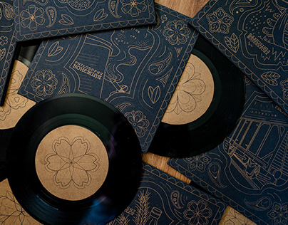 Johnny Cash 7 inch Record Set