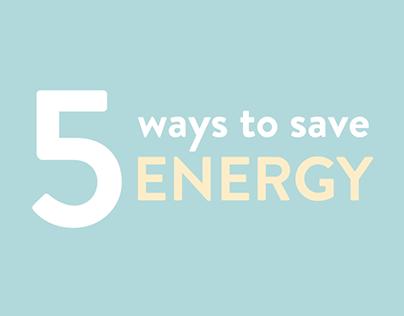 5 Ways to Save Energy Animation