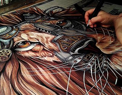Steampunk Lion