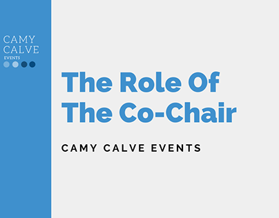 The Role Of The Co-Chair