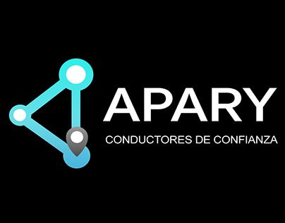 Página, iconos, Logotipo y sesión de fotografía Apary