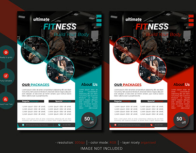 Ultimate fitness gym flyer template