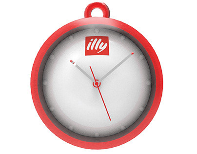 """Design illy time"" Wall clock"