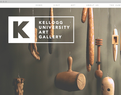 Kellogg Gallery Identity & Web Design