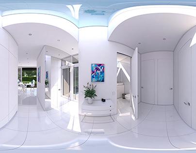 White Interior 360° virtual tour