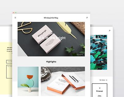 Mindsparkle Mag redesign