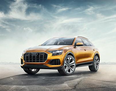 Audi Q8 2019 - CGI & Retouching