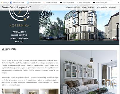 Website for flat development project