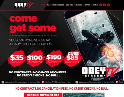 Obeystreamtv Complete Designing by Techpumpkin Team