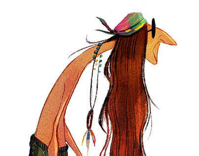 Hippies Character Design