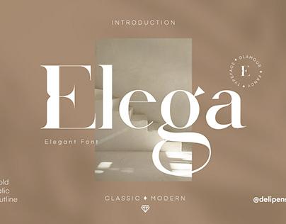Elega - A Classic Modern Typeface