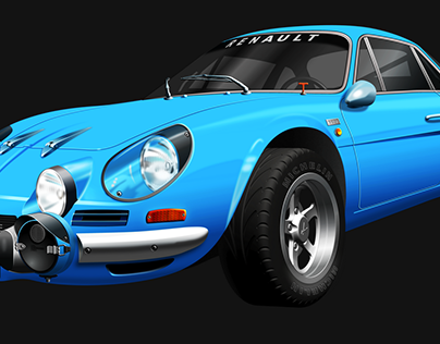 Renault Alpine A110 vector drawing