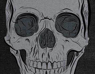 Wacom Test - Skull Illustration