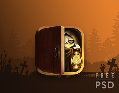 Free PSD Halloween Death app icon