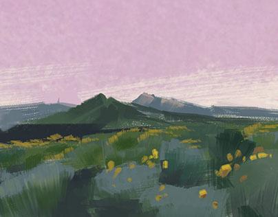 Digital landscape Paintings