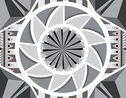 aztec kaleidoscope clothing design for above the curve;
